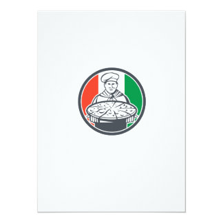 """Círculo italiano de la pizza de la porción del invitación 5.5"""" x 7.5"""""""