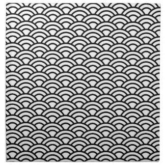 Círculo japonés negro y blanco de la escala de servilleta