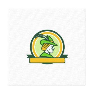 Círculo lateral de la cinta de Robin Hood retro Lona Estirada Galerías