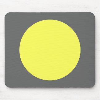 Círculo - Lt Yellow y gris Tapetes De Ratón