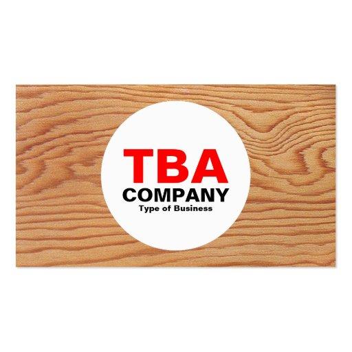 Círculo - madera 02 plantillas de tarjetas de visita