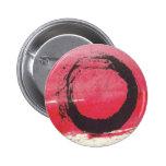 Círculo magenta del zen pin redondo de 2 pulgadas