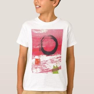 Círculo magenta del zen playera