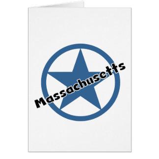 Círculo Massachusetts Tarjeta De Felicitación