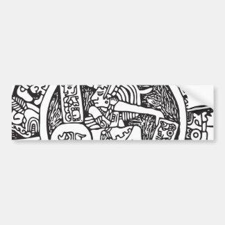 Círculo maya, jeroglífico mexicano (maya) etiqueta de parachoque
