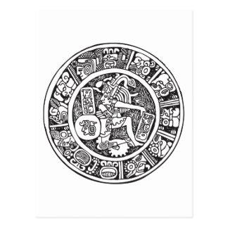 Círculo maya, jeroglífico mexicano (maya) postal