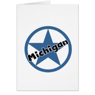 Círculo Michigan Tarjeta De Felicitación