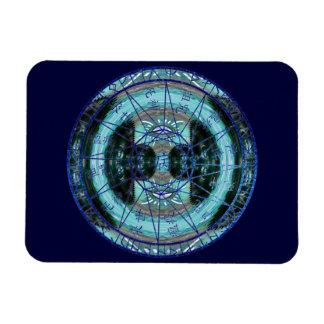 Círculo místico del tiempo imán rectangular