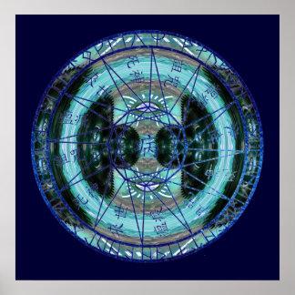 Círculo místico del tiempo póster
