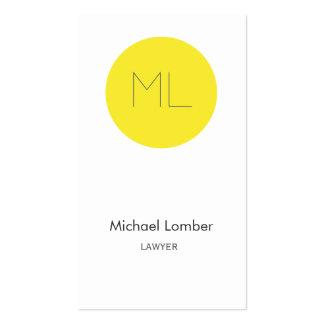 Círculo moderno del amarillo de la tarjeta de visi plantillas de tarjeta de negocio
