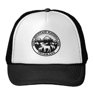 Círculo nacional del blanco del negro del parque gorras