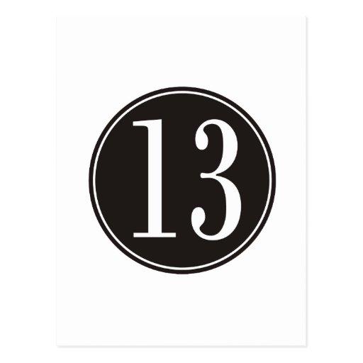 Círculo negro #13 (frente) postales