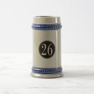 Círculo negro #26 jarra de cerveza