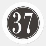 Círculo negro #37 etiqueta