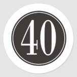 Círculo negro #40 etiqueta