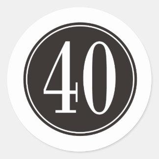 Círculo negro #40 pegatina redonda