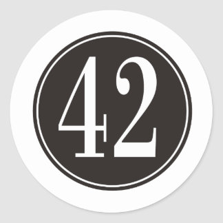 Círculo negro #42 pegatina redonda