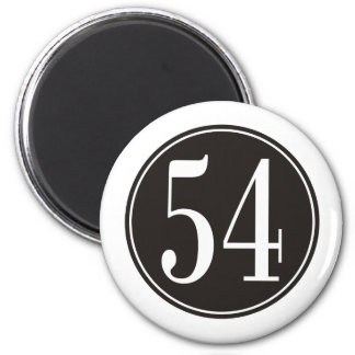 Círculo negro #54 imán redondo 5 cm
