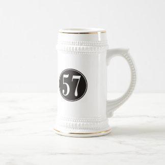 Círculo negro #57 jarra de cerveza