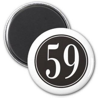 Círculo negro #59 imán redondo 5 cm