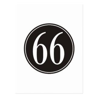 Círculo negro #66 postal