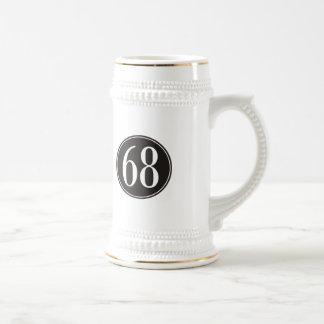 Círculo negro #68 jarra de cerveza