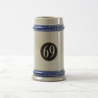 Círculo negro #69 jarra de cerveza