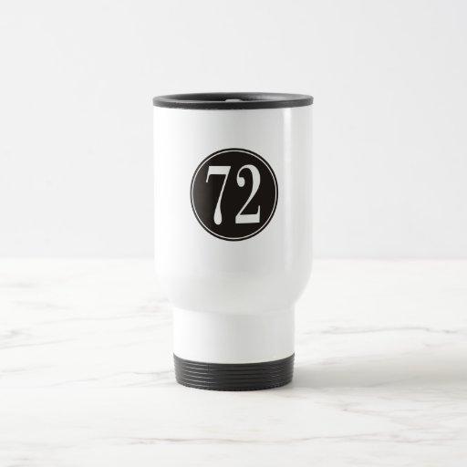 Círculo negro #72 taza