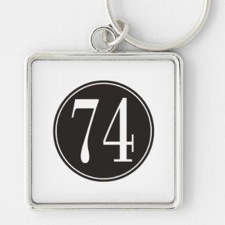 Círculo negro #74 llavero personalizado