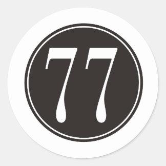 Círculo negro #77 pegatina redonda