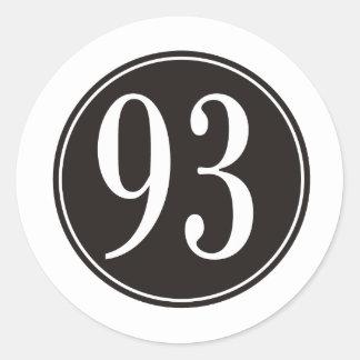 Círculo negro #93 etiqueta redonda