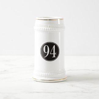 Círculo negro #94 jarra de cerveza