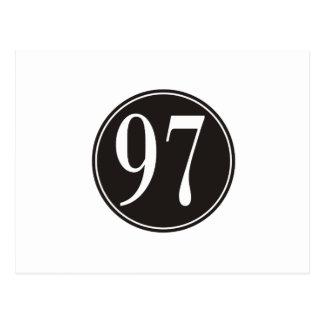Círculo negro #97 postales