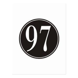 Círculo negro #97 postal