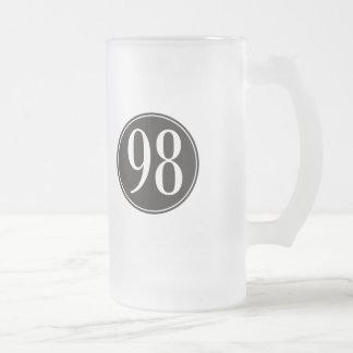Círculo negro #98 jarra de cerveza esmerilada