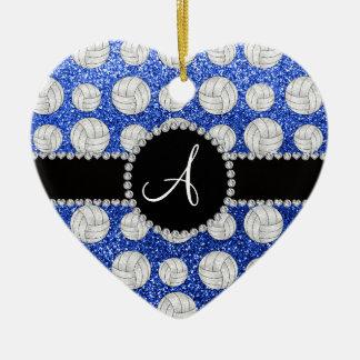 Círculo negro de los voleiboles azules del brillo ornamento de navidad