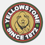Círculo negro de Yellowstone Etiquetas