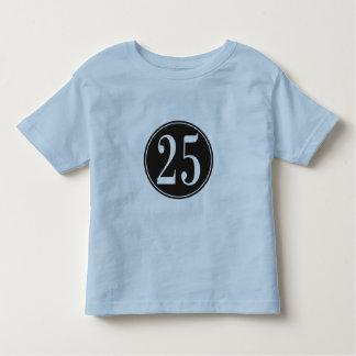 Círculo negro - número 25 (frente) playeras