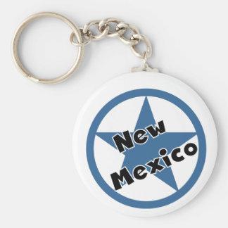 Círculo New México Llavero Redondo Tipo Pin