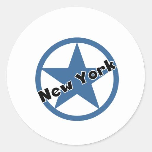 Círculo Nueva York Pegatina Redonda