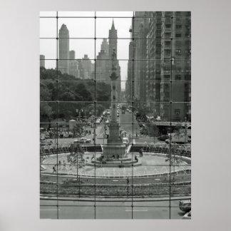 Círculo NYC/Time Warner de Columbus Póster