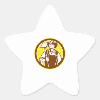 Círculo orgánico de la azada del gancho agarrador colcomanias forma de estrellaes