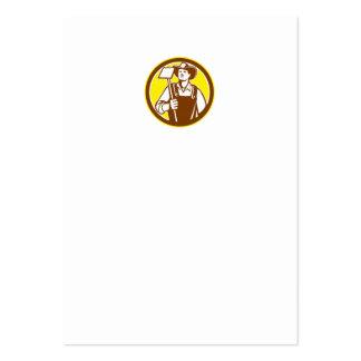 Círculo orgánico de la azada del gancho agarrador plantillas de tarjetas de visita