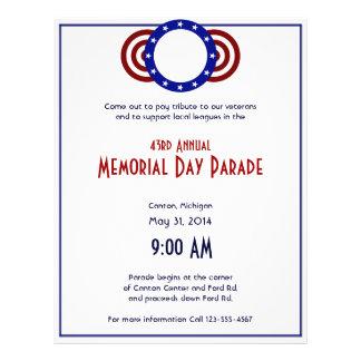 Círculo patriótico del Memorial Day de las estrell Tarjetones