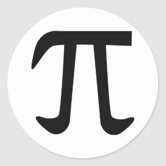 círculo pi constante pegatina redonda