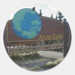 Círculo Polar Ártico Pegatina Redonda