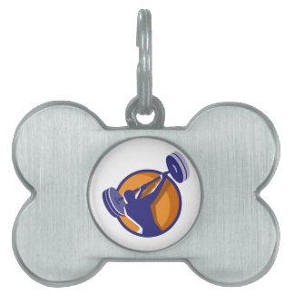 Círculo posterior de balanceo del Barbell del Placa De Mascota