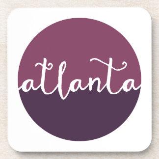 Círculo púrpura de Atlanta, Georgia el | Ombre Posavasos De Bebidas