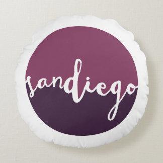 Círculo púrpura de San Diego, California el | Cojín Redondo