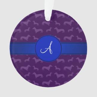 Círculo púrpura del azul del dachshund del
